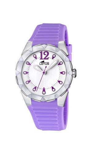 Lotus 15732/3 - Reloj analógico de Cuarzo para Mujer con Correa de Caucho, Color Morado