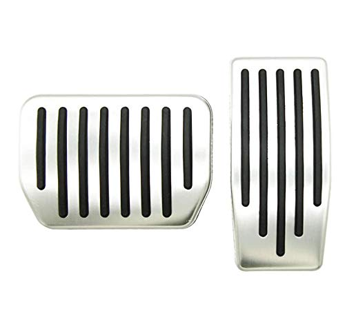 Topfit Model 3 and Model Y Non-Slip Performance Foot Pedals Pads Auto Aluminum Pedal Covers(A Set of 2)