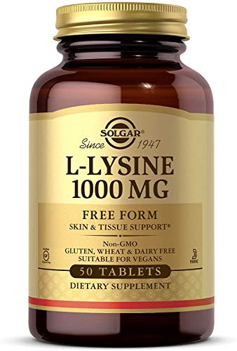 Solgar L-Lysine 1000 mg Tablets - Pack of 50
