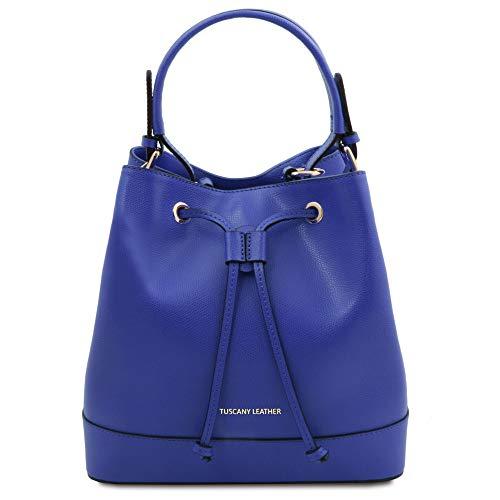 Tuscany Leather Minerva - Borsa secchiello da donna in pelle - TL142050 (Blu)