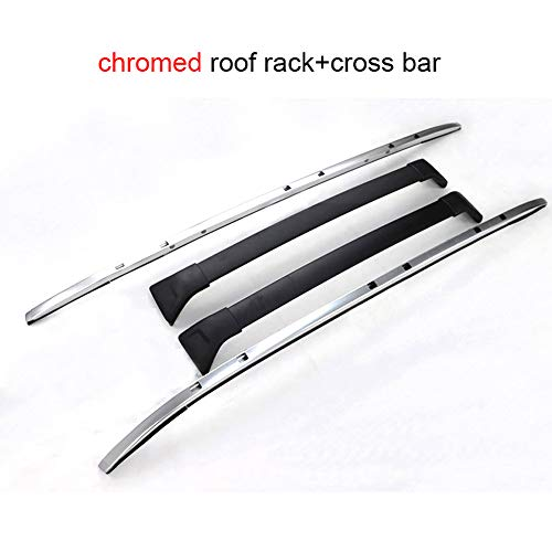 LKJIPL Neue Ankunfts-Dachreling Ross Bar & Roof Rack-Fit für Mazda CX-5 2017 2018 2019,Chromeandcross