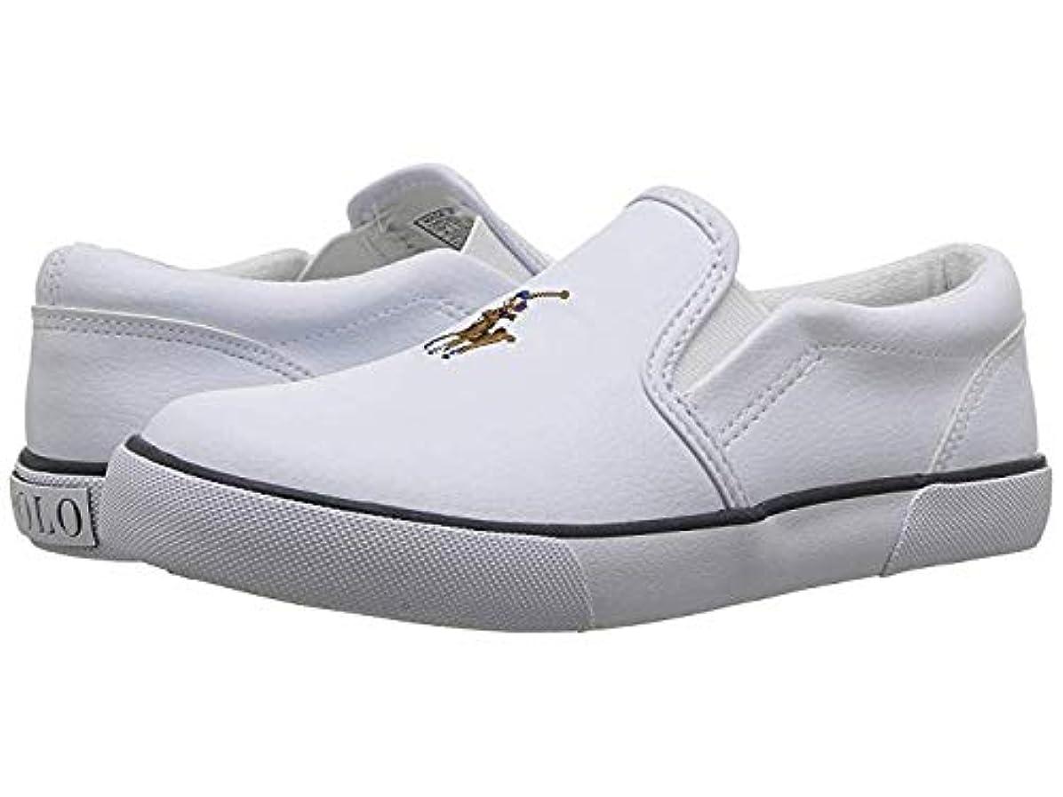 学生溶接オリエント[ポロラルフローレン] キッズカジュアルシューズ?靴 Bal Harbour II (Little Kid) White Tumbled/Multi Pony Player 17.5cm M [並行輸入品]