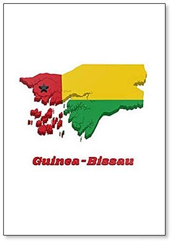 Kühlschrankmagnet, Motiv: Flagge von Guinea-Bissau