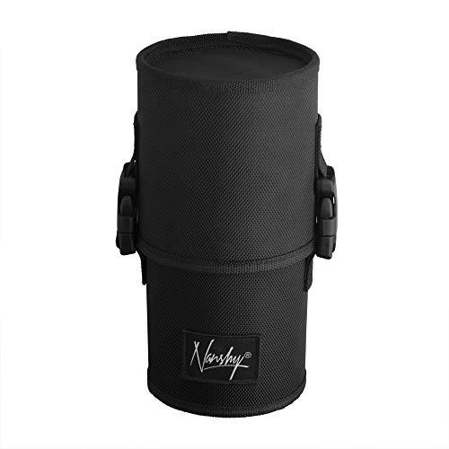 Nanshy Travel Makeup Brush Case (Large Black Cup Holder Without Make Up Brushes)