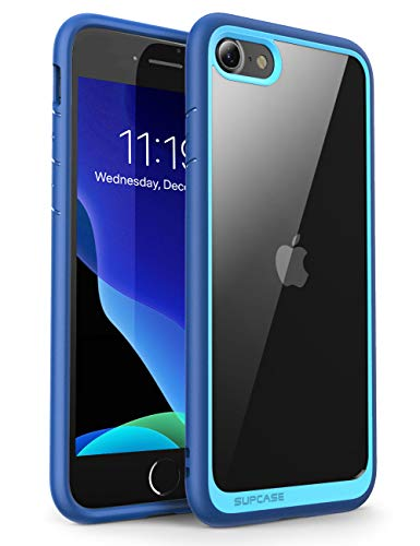 SUPCASE Cover iPhone SE 2020 iPhone 8 iPhone 7 Custodia Antiurto [Unicorn Beetle Style] TPU Bumper Clear Case per iPhone SE 2020/8/7, Blu
