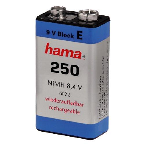 Hama - Pila recargable NiMH 9V 250 mAh