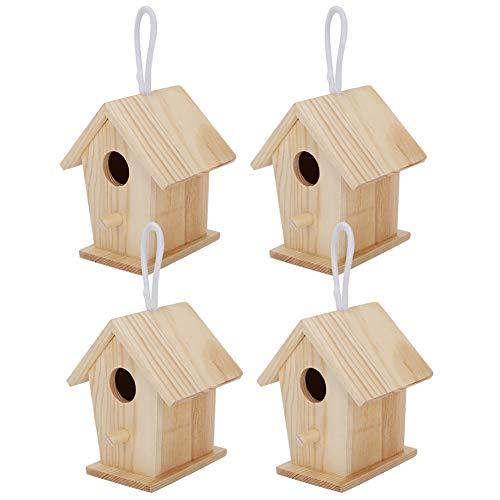01 Casetta per Uccelli, 4 Pezzi squisita Mini casetta per Uccelli da Appendere, Bella per Giocare a riposare Gli Uccelli