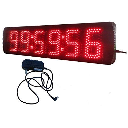 AZOOU 5-inch Hight Character Single Sided LED Sport Timing Clock Countdown/up Timer