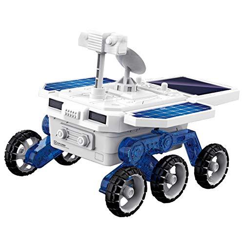 Aibecy DIY Solar Mars Exploration Car Kits de ensamblaje de vehículos 4WD STEM Regalo educativo temprano Solar y alimentado por batería para niños y niñas de 6 años o más