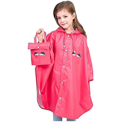 Bumen Kids Poncho Children Waterpoof Raincoat Lightweight Girls and Boys Rain Wear Hooded Rain Poncho Coat Ideal for Outside Play Clear EVA Rain Poncho with Hood for Toddlers