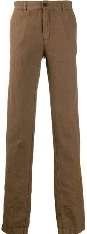 MASSIMO ALBA Men's 15U0WINC2T0122U769 Brown Linen Pants
