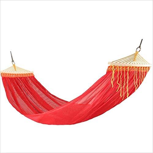 XHHWZB Hamacas para Acampar, hamacas y mosquetones Dobles para hamacas, hamacas livianas de paracaídas de Nylon para Acampar, Viajes, Playa, Senderismo, Patio Trasero (Color : Red)