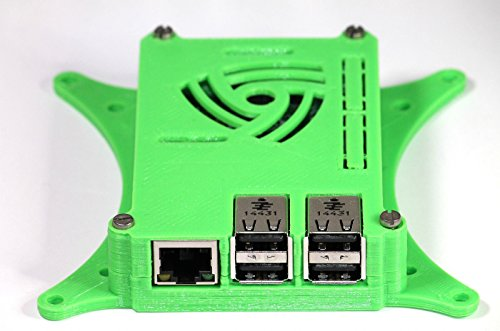 Raspberry Pi 3 Case with 75mm & 100mm VESA Monitor TV Mount All Green 0110-M-P