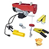 AC-DK 110V Electric Winch 1320 lb Crane Lift Garage Electric Hoist Ceiling Pulley