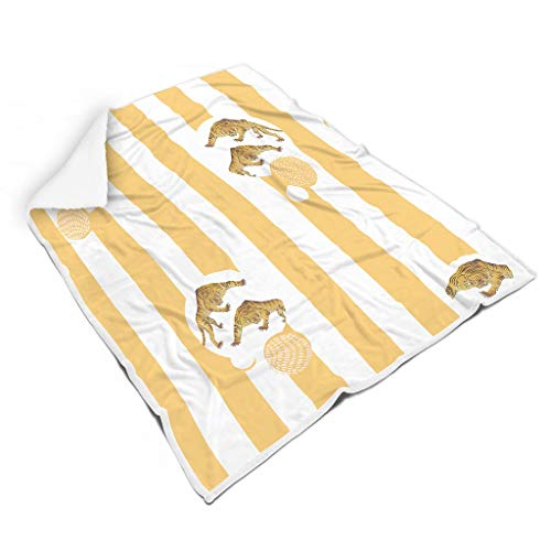 Charzee Grafik Geometrie Tier Decke, Wohn- und Decke, viele Farben Warm Wärmedecke in Winter White 150x200cm