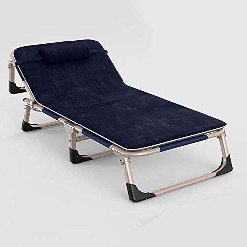 FVGBHN - Tumbona Plegable para jardín, Tumbona, tumbonas, tumbonas, sillas de jardín, sillas de Camping, Gris + cojín Negro Perla
