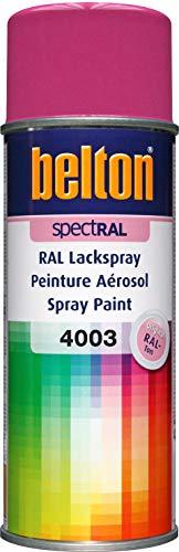 RAL 4003 VIOLET BRUYERE Mat (BELTON) (Bombe peinture 400 ml) - bombe aerosol reparation peinture carrosserie voiture teintes standrard et RAL (reference couleur constructeur 150 ou 400 ml)