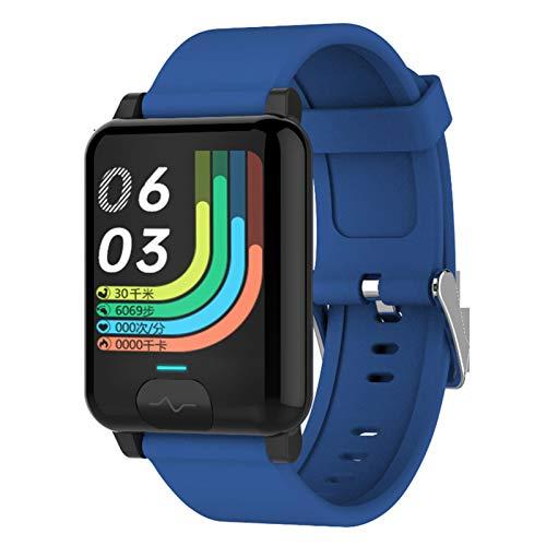 Actividad Pulsera Smartwatch, Fitness Tracker Monitor de Actividad Actividad Relojes Deportivos, con 1.3 Inch Pantalla Táctil Sueño Podómetro para Android/iOS/Hombre/Mujer, Monitor de Deportivos,Azul