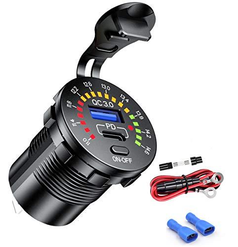 iMESTOU PD & QC3.0 USB Automobile Charger, DIY Dual USB Car Charger Fast...