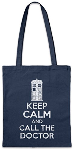 Urban Backwoods Keep Calm and Call The Doctor Hipster Bag Beutel Stofftasche Einkaufstasche