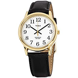 Timex Men's T20491 Quartz Easy Reader Watch with White Dial Analogue Display and Black Leather Strap (B000N62EPK) | Amazon price tracker / tracking, Amazon price history charts, Amazon price watches, Amazon price drop alerts