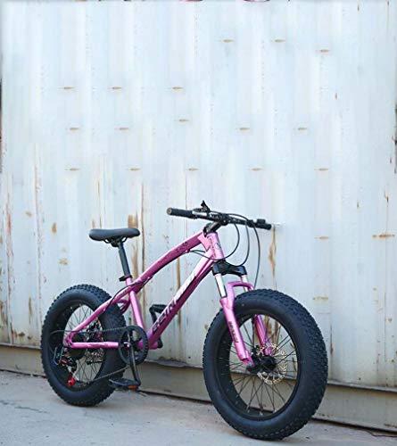 AISHFP Fat Tire Mens Mountain Bike, Doppio Freno a Disco in Acciaio /-Alto tenore di Carbonio Telaio Cruiser Bikes, Spiaggia motoslitta Bicicletta, 26 Pollici Ruote,B,27 Speed