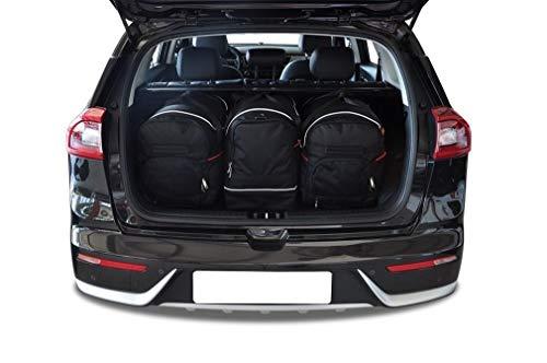 KJUST Dedizierte Kofferraumtaschen 3 STK Set kompatibel mit KIA NIRO I 2016 -