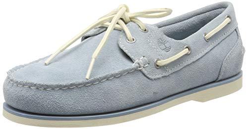 Timberland Damen Classic Mokassins Bootsschuhe, Blau (Stone Blue 41e), 38 EU