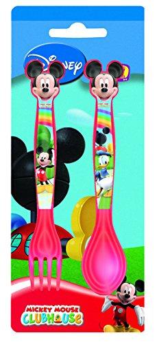 Joy Toy 732016Disney Mickey Juego de Cubiertos de plástico