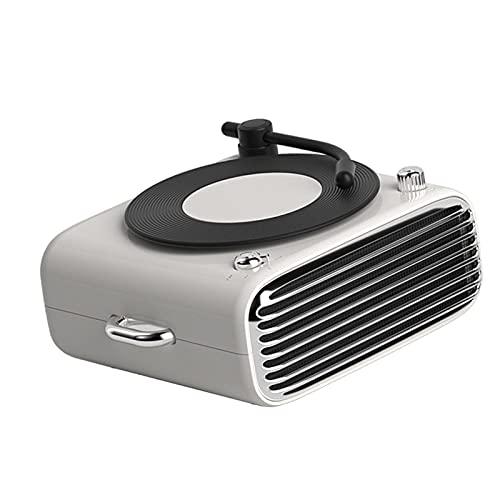 TISHITA D10 Retro Inalámbrico Bluetooth Altavoz Aroma Diffuser 6D Reproductor de Grabación de Sonido Support TF/Aux/FM Radio Hecho de Calidad Confiab - Blanco