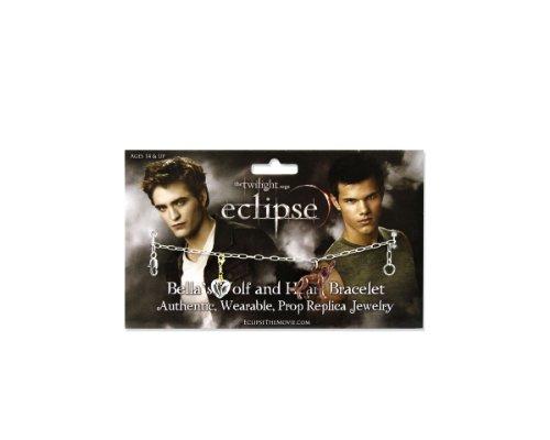 Neca–22145–Twilight–Armband Unisex–Wolf und Herz
