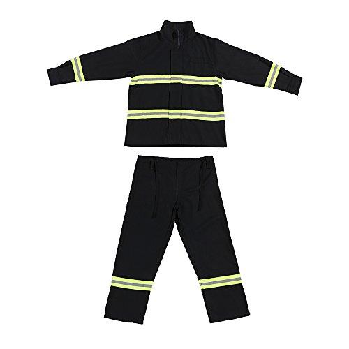 OWSOO Flammhemmende Kleidung Feuerbeständige Kleidung Feuerfeste Wasserdichte hitzebeständige Feuerbekämpfungsausrüstung