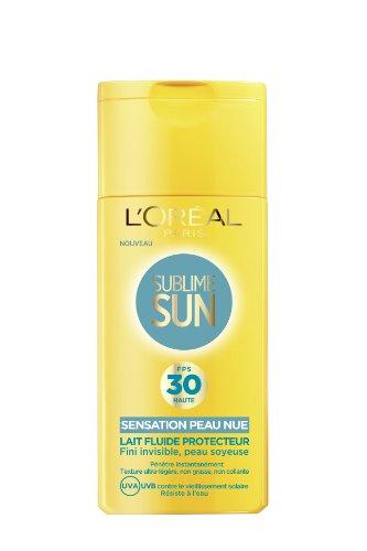 L'Oréal Paris Sublime Sun Lait Protection Solaire Sensation Peau Nue Indice FPS 30