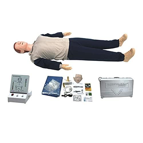 GXGX Kit de entrenamiento de manicura para adultos, revitalización cardiopulmonar, simulación de cuerpo completo CPR, con monitor CPR para entrenamiento respiratorio artificial