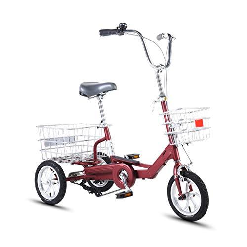 12inch Triciclos For Adultos, La Montaña De Adulto Triciclos, Bicicleta 3 Ruedas Bici Cruise Trike con Carrito Y De Doble Freno De Disco, Una Silla Ergonómica For Personas Mayores, Mujeres, Hombres