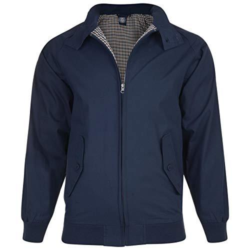 Mens Big Size Harrington Jacket (KBS 428) by KAM in Navy in 3XL