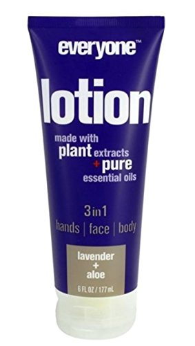 Everyone 3-in-1 Lotion, Lavender & Aloe, 6 oz Each (Pack of 4)