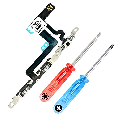 MMOBIEL Control de volúmen Compatible con iPhone 6 Plus Series Power Botón ON Off Silencio/Mudo Control Mute Cable Conector Flex Incl. 2X Destornilladores