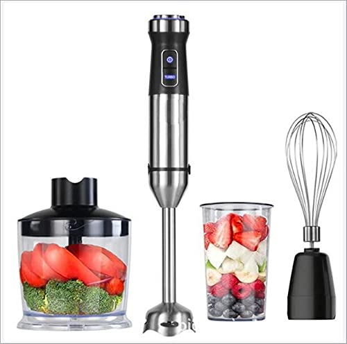 L&B-MR 4 in 1 Multi-Function Low-Noise Stainless Steel Handheld Mixer Cooking Rod Meat Grinder Fruit And Vegetable Juicer, 500Ml Chopper Bowl, 800Ml Mixed Crusher, Easy To Clean
