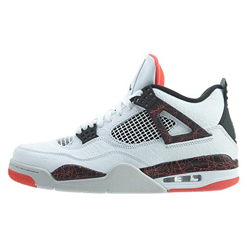 Jordan 4 Retro, Zapatillas de Deporte para Hombre, Multicolor (White/Black/Bright Crimson/Pale Citron 000), 48.5 EU
