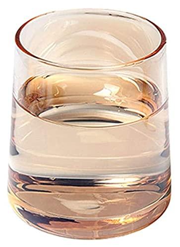 Beapet Gafas de Bebidas de Whisky, Gafas de cóctel de Moda para escocés, Bourbon, cócteles, Ron, glasswware durables Conjuntos de Cristal para Fiesta, Juego de Camping de 2 (Color : Tyep4)