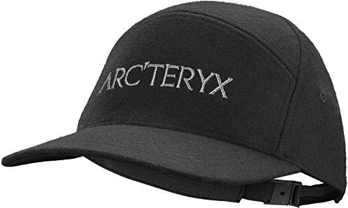 Arc'teryx 7 Panel Wool Ball Cap, Black Heather, One Size
