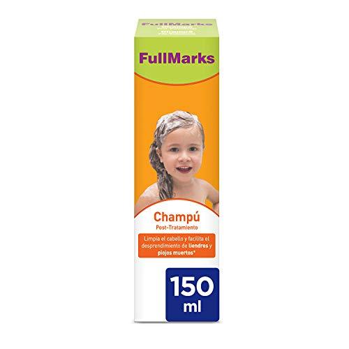 Full Marks Champú Post-Tratamiento Piojos, Limpia el cabello y elimina los rastros de la loción/spray contra los piojos - 150 ml