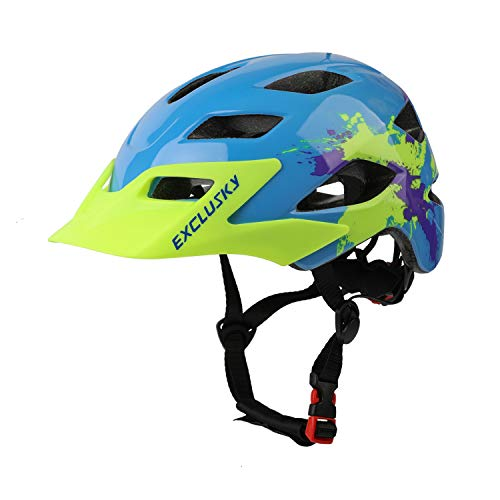 Exclusky Kids Bike Helmets Lightweight Adjustable Child Helmet for Boys Girls 50-57cm(Ages 5-13) (MC-3)