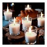 Supreme Lights Lot de 24 Bougies Votives avec Pot de Verre, Bougies Chauffe-Plat...