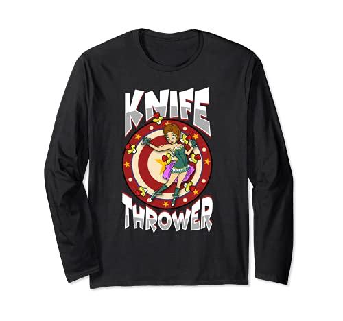 Lanceur de couteaux Costume de cirque Lancer des couteaux Manche Longue