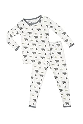 KYTE BABY Toddler Pajama Set - Pjs for Toddlers Made of Soft Bamboo Rayon Material (Creek, 18-24 Months)