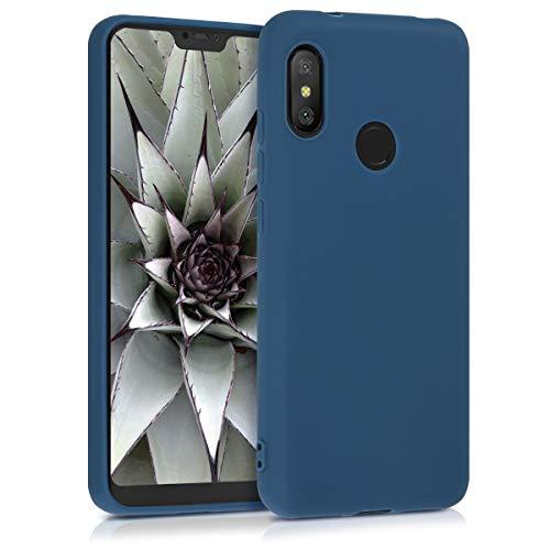 kwmobile Funda Compatible con Xiaomi Redmi 6 Pro/Mi A2 Lite - Carcasa de TPU Silicona - Protector Trasero en Azul Marino