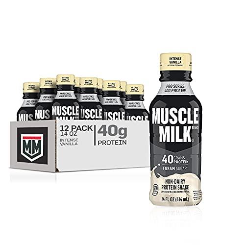 Muscle Milk Pro Series Protein Shake, Intense Vanilla, 32g Protein, 14 Fl Oz, 12 Pack