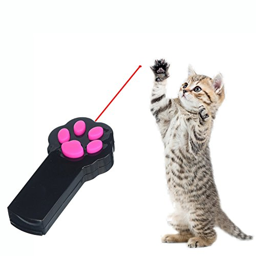 Ruri's Cat Laser Toys Pet Catch the LED Light Pointer Interactive Cat toys, Black